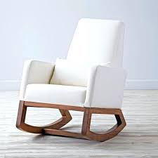 Padded Rocking Chairs For Nursery Brown Rocking Chair For Nursery Simple And White Rocking