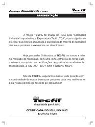 catalogo tecfil