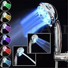 adjustable spray automatic colour changing shower led