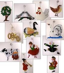 12 days of christmas ornaments twelve days of christmas ornaments set of 12 potterybarn