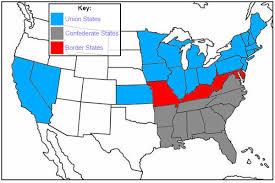 map us states during civil war civil war map