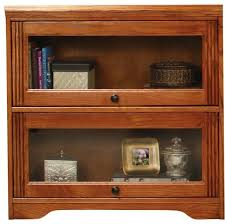Contemporary Oak Bookcase Living Room Glass Front Bookshelves Pictures Decorations