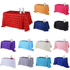 90 X 132 Tablecloth Fits What Size Table by Rosette Tablecloth Wedding Supplies Ebay