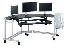 best corner desk for 3 monitors computer desks second monitor for desktop computer multi screen