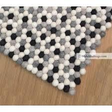 Nepal Felt Ball Rug Rectangular Felt Ball Rugs Felt Ball Rugs Handmade In Nepal