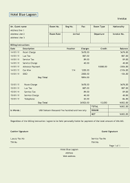 invoice sample hotel free invoice template