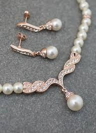bridal necklace pearls images Pearl bridal jewelry set member board bride bridal party jpg