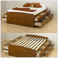 Build Platform Bed Storage Under by Diy Bed Frame With Storage Under Bed Storage Stuff To Make