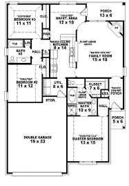 one bedroom one bath house plans attractive simple 3 bedroom 2 bath house plans 3 3 bedroom one