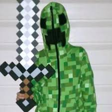 jinx minecraft creeper premium zip up youth hoodie