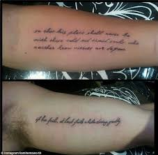 collection of 25 matching tattoos on