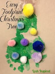 creations by leah inspired easy footprint christmas tree