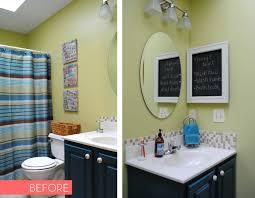 Builders Grade Bathroom by Bathroom Makeover Reveal Jenna Burger