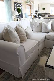 slip covered sofa how to a sectional slipcover confessions tutorials and