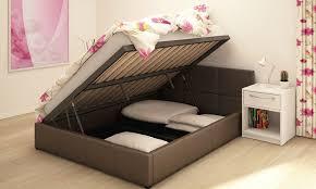 ottoman storage bed frame groupon goods