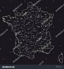 Champagne France Map by Vector Map France Regions Towns Stock Vector 38609560 Shutterstock