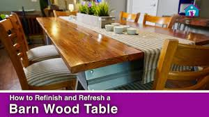 how to refinish a barn wood table youtube