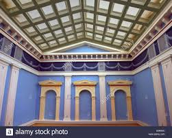 interior design in the neoclassical style paneled window alcove