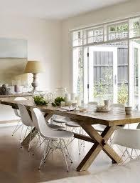 chaises design salle manger design salle à manger de style cagne chic et rustique table