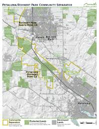 Petaluma Ca Map Maps Of All Eight Sonoma County Community Separators Greenbelt