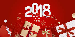 new year box 2018 new year gift box with background vector 03 vector