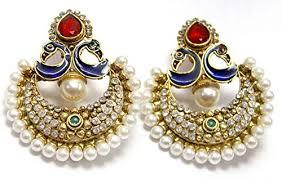 danglers earrings design hugo mesmerizing peacock design party wear multi color dangler