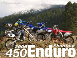 motocross bike brands 2006 450 enduro shootout motorcycle usa