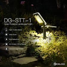 Led Landscape Light Dg Sst 1 Garden Led Landscape Light Solar Panel Powered Wireless