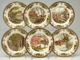 anniversary plates 50th anniversary johnson brothers friendly 50th anniversary 6 canape