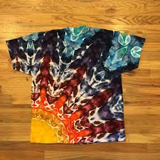 Tie Dye Techniques Rainbow Black Rising Star Tie Dye T Shirts By
