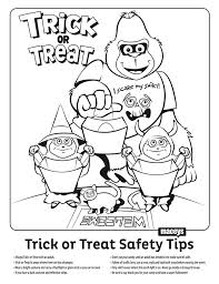 macey u0027s trick or treat safety and coloring page