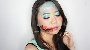 Halloween Special Effects Makeup Ideas by Easy Halloween Inspired Look Mermaid With Bloody Torn Lips