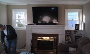 living room wall mounted tv stand mantel wood two shelf bookcase