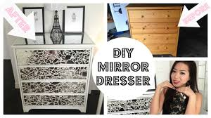 Glass Mirrored Bedroom Set Furniture Diy Mirror Dresser Youtube
