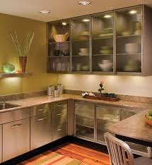 Two Tone Kitchen Cabinet Doors Aluminum Frame Kitchen Cabinet Glass Doors Contemporary Kitchen