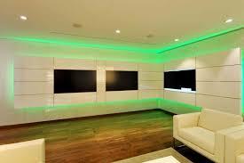 le wohnzimmer led ensemble mural tv à led pour le salon moderne 50 idées
