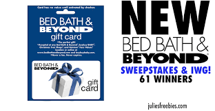 bed bath and beyond sweepstakes and instant win game julie u0027s