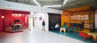 creative loft a world of color and creative design modern industrial office in