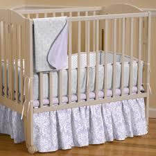 Portable Crib Bedding Lilac And Silver Gray Damask Portable Crib Bedding Carousel Designs