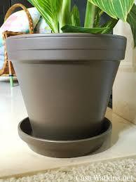 terracotta pots hammered brown painted terra cotta pot makeover casa watkins living