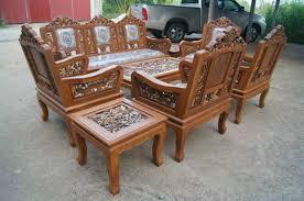 amazon com carved teak wood living room furniture set with