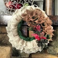 burlap christmas wreath whimsical handmade christmas wreath ideas