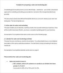 marketing action plan template 7 free word excel pdf format