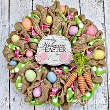how to make easter wreaths easter bunny burlap wreath an easy craft idea and tutorial