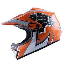 youth xs motocross helmet wow motocross bmx youth atv dirt bike orange spider mx helmet l 54