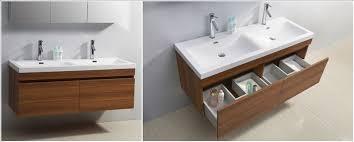 Double Basin Vanity Elegant Bathroom Double Sink Vanity Units With Beautiful Standing