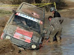 jeep stuck in mud mud bogging in kyrgyzstan