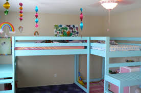 Girls Bedroom Ideas Bunk Beds Bedroom Bedroom Furniture Astounding Blue Painted Handmade