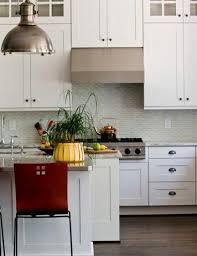Green Backsplash Kitchen Sea Green Backsplash Tile Light Cabinets New Stools Grey