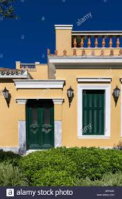 neoclassical greek house stock photos neoclassical building plaka neighborhood athens greece stock image